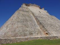 Uxmal Pyramid in Yucatan Stock Photo
