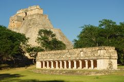 Uxmal. The ruins of Uxmal, the ancient Mayan city in Yucatan, Mexico Stock Images