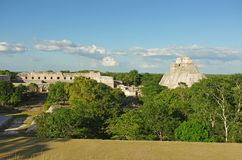Uxmal. The ruins of Uxmal, the ancient Mayan city in Yucatan, Mexico Royalty Free Stock Photography
