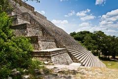 Uxmal Yucatan, Mexico, 2014 Arkeologiskt fördärvar Arkivfoto