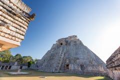 Uxmal, Yucatan, Mexico. Pyramid of the Magician. Uxmal, Mexico. Pyramid of the Magician Royalty Free Stock Images