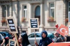 Uyghur人权活动家抗议 图库摄影