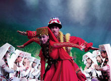 Uyghur dancers Stock Photo