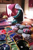 Uyghur market stock photo