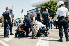 Uyghur-Menschenrechtlerprotest Stockfotografie