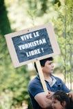 Uyghur-Menschenrechtlerprotest Lizenzfreies Stockfoto