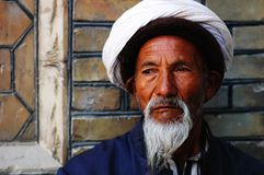 Uyghur old man Royalty Free Stock Images