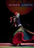 The Uygur girl--Chinese folk dance Stock Photo