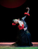 The Uygur girl--Chinese folk dance Stock Photography
