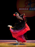 The Uygur girl--Chinese folk dance Stock Images