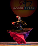 The Uygur girl--Chinese folk dance Royalty Free Stock Photography