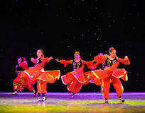 Uygur national Dance-The campus show Royalty Free Stock Images