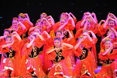 Uygur national Dance-The campus show Royalty Free Stock Photo