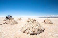 Uyuni αλατούχο Salar de Uyuni, Aitiplano, Βολιβία Στοκ φωτογραφία με δικαίωμα ελεύθερης χρήσης
