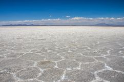 Uyuni αλατούχο Salar de Uyuni, Aitiplano, Βολιβία Στοκ εικόνες με δικαίωμα ελεύθερης χρήσης