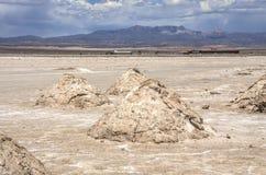 Uyuni αλατούχο Salar de Uyuni, Aitiplano, Βολιβία Στοκ Φωτογραφία