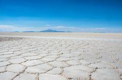 Uyuni αλατούχο Salar de Uyuni, Aitiplano, Βολιβία Στοκ φωτογραφίες με δικαίωμα ελεύθερης χρήσης