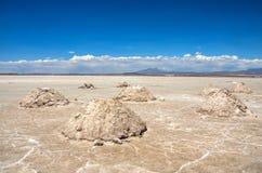 Uyuni αλατούχο Salar de Uyuni, Aitiplano, Βολιβία Στοκ Εικόνες