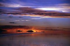 Uyuni. Bolivia: Atardecer en el Salar de Uyuni.  Febrero 2005 / Bolivia: Uyuni's saltlake during sunset/ Bolivien: Uyuni  Dario Diament Stock Photography