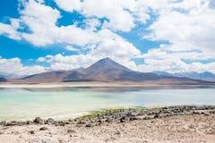 Uyuni, Bolivia. Green Lagoon laguna Verde,Uyuni, Bolivia Stock Photos