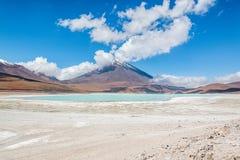 Uyuni, Bolivia. Green Lagoon laguna Verde,Uyuni, Bolivia Royalty Free Stock Photography