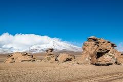 Uyuni, Bolivia. Rock formation Arbol de Piedra in Uyuni, Bolivia Stock Photo