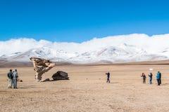 Uyuni, Bolivia. Rock formation Arbol de Piedra in Uyuni, Bolivia Stock Photos