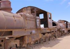 Uyuni, Bolivia. Rusty old steam locomotive royalty free stock image