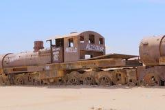 Uyuni, Bolivia. Rusty old steam locomotive royalty free stock photos