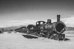 Uyuni, Bolivia. Train Cemetery Cementerio de Trenes in Uyuni, Bolivia Stock Images