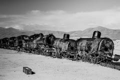 Uyuni, Bolivia. Train Cemetery Cementerio de Trenes in Uyuni, Bolivia Royalty Free Stock Image