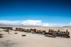 Uyuni, Bolivia. Train Cemetery Cementerio de Trenes in Uyuni, Bolivia Royalty Free Stock Photography