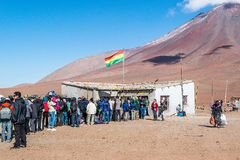 Uyuni, Bolivia. View of the Customs office in the border between Chile and Bolivia in the Potosi Department. Uyuni, Bolivia Royalty Free Stock Photography