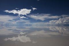 Uyuni desert. Mirroring in Uyuni desert, Bolivia royalty free stock image