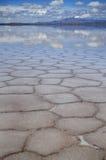 Uyuni-Latte flach Lizenzfreie Stockfotografie