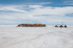 Uyuni, sal liso em Bolívia Foto de Stock Royalty Free