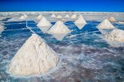 Uyuni salt öken, Bolivia Arkivbilder