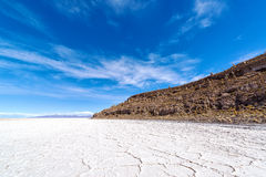 Uyuni Salt Flats and Blue Sky Stock Images