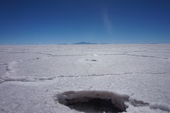 Uyuni Salt Flats in Bolivia, South America. Close-up on the Uyuni Salt Flats in Bolivia, South America. The world's largest salt flat, in dry season. On the Royalty Free Stock Photo