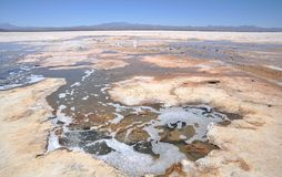 The Uyuni salt flats Stock Images