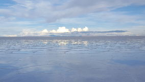 Uyuni Salt Flats. After rain in Bolivia Stock Photos