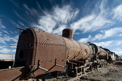 Uyuni train cementery Royalty Free Stock Images