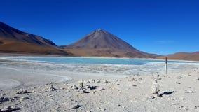 Uyuni-Vulkan Stockfotos