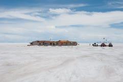 Uyuni, Zout vlak in Bolivië Royalty-vrije Stock Foto