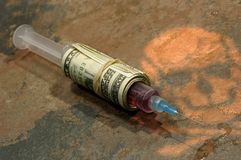 uzależnienia od narkotyków Obrazy Stock