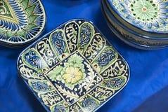 Uzbeck ceramic plates Stock Image