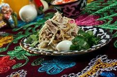 Uzbek beef salad Royalty Free Stock Images
