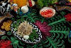 Uzbek beef salad Stock Photo