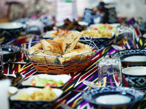 Uzbek caces served at table Stock Photos