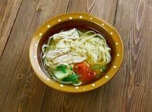 Uzbek chicken soup Royalty Free Stock Photo